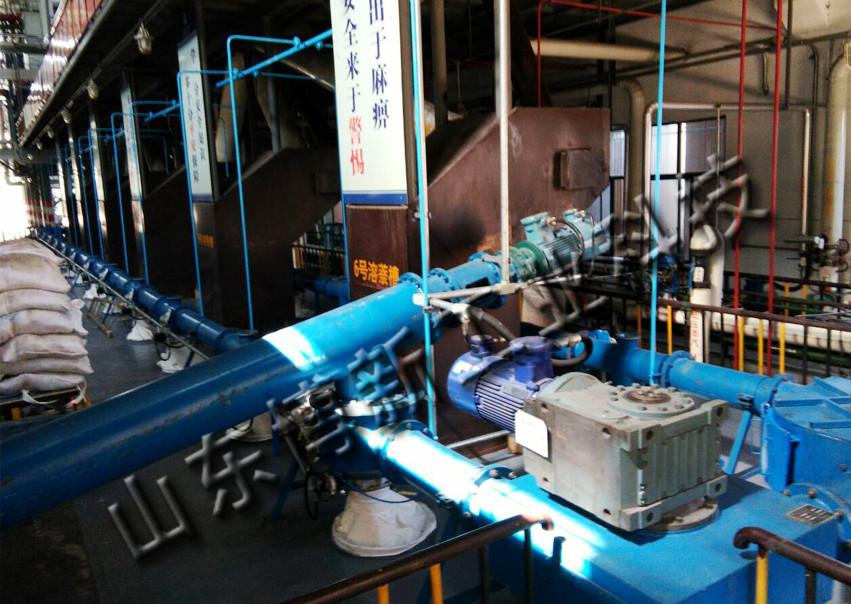 管链机输送系统