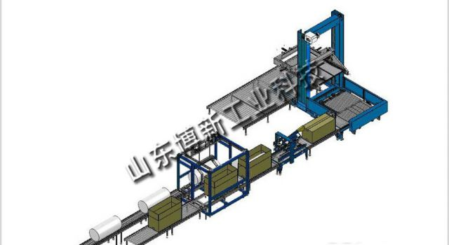 桶装物料包装码垛生产线